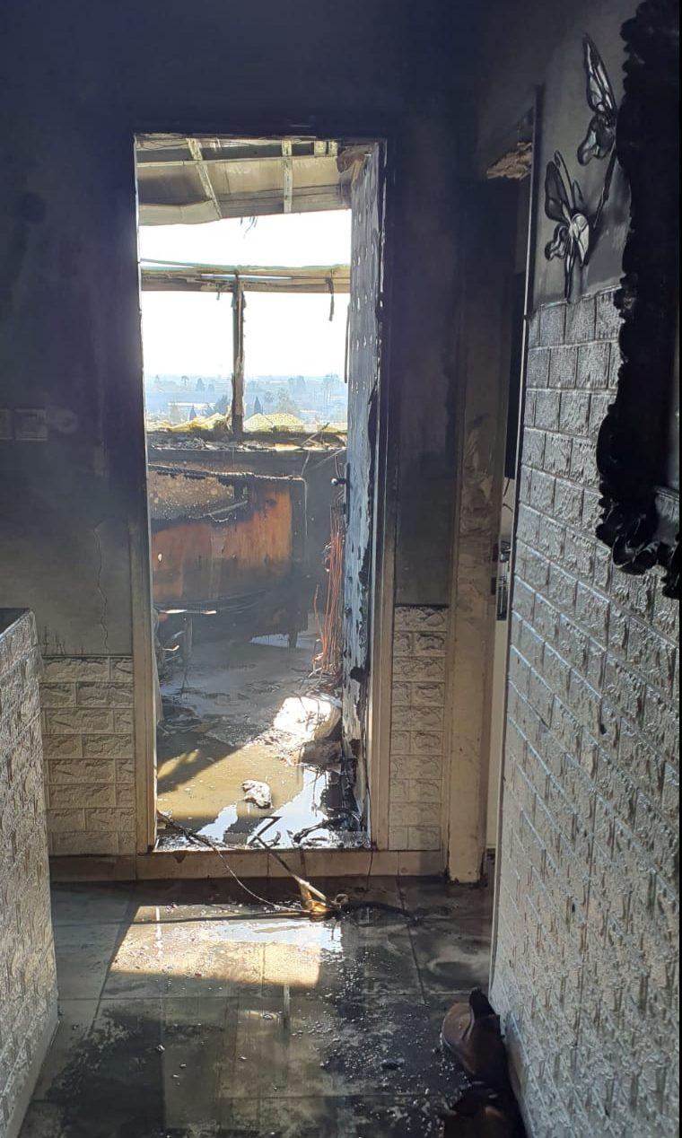 השריפה בנווה אילן. צילום: תיעוד מבצעי כבאות והצלה