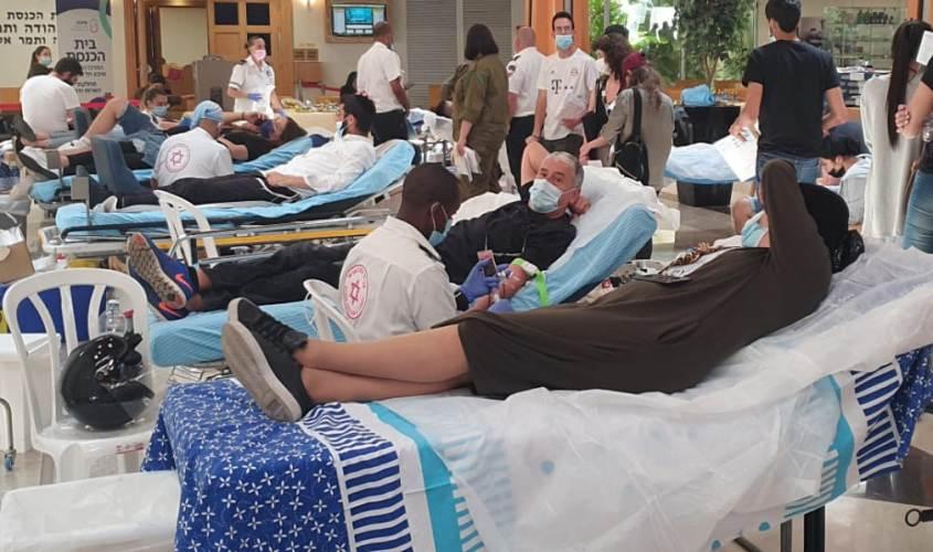 """תרומות דם. צילום: דוברות מד""""א"""