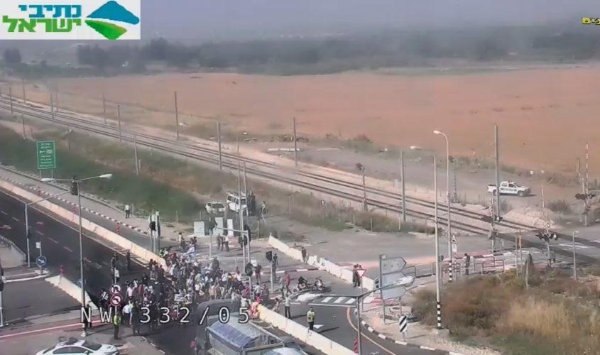 צומת ניצנים בשעה זו. מתוך מצלמות התנועה של נתיבי ישראל