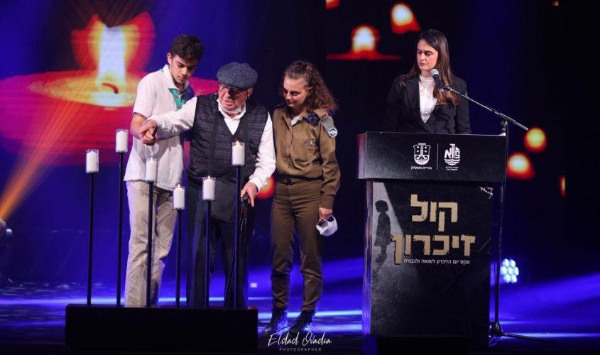 טקס יום השואה באשקלון. צילום: אלדד עובדיה