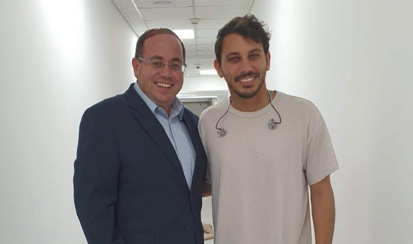 לירן דנינו וראובן פינסקי, מנכ״ל רשות השירות הלאומי-אזרחי. צילום: לימור עוקבי