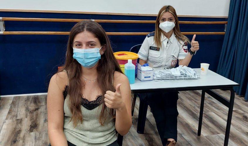 חיסונים באשכול הפיס. צילום: דוברות עיריית אשקלון