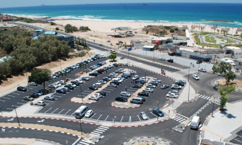 חניית חוף דלילה. צילום: אלירם משה
