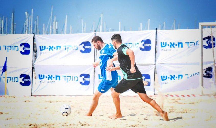ליגת כדורגל חופים אשקלון. צילום: אלדד עובדיה