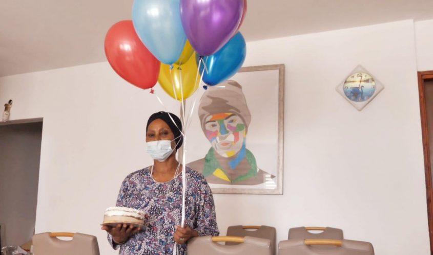 אגרנש מנגיסטו מציינת יום הולדת. צילום: אשר דיין