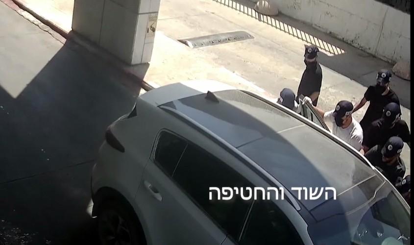 רגע השוד והחטיפה. צילום: דוברות המשטרה