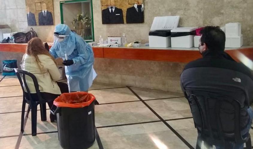 בדיקת קורונה. צילום: דוברות עיריית אשקלון