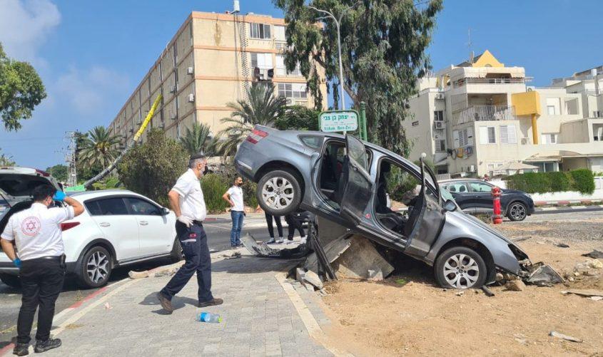 התאונה. צילום: אחמד אבו מוך