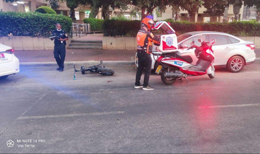 זירת התאונה ברחוב אלי כהן. צילום: דוברות איחוד הצלה