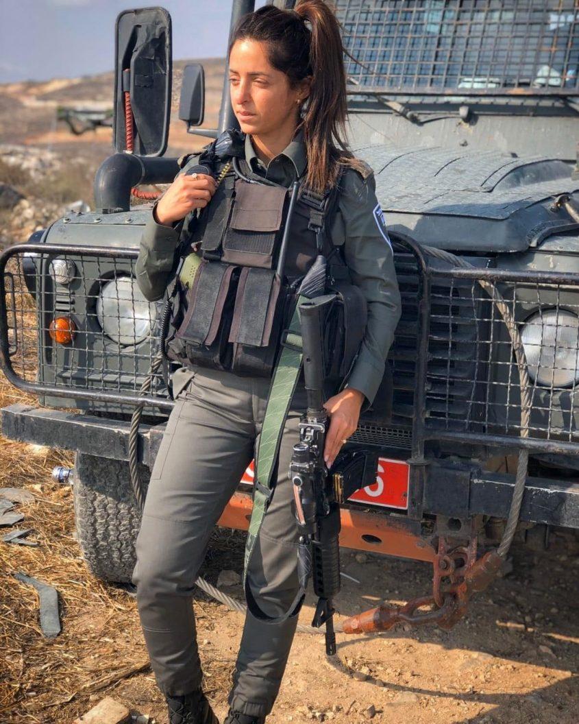 """מפקדת הפלוגה, פקד סיגל אנקו. צילום: דוברות מג""""ב"""