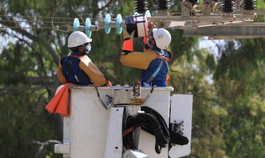 עובדי חברת החשמל בביצוע עבודות תחזוקה. צילום: יוסי וייס, חברת החשמל