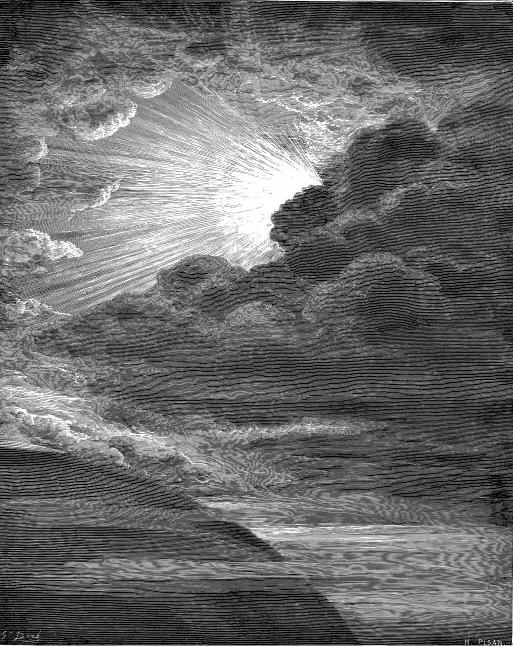 אלוהים בורא את האור, ביום הראשון לבריאה. תחריט מאת גוסטב דורה