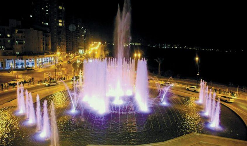 כיכר המזרקה כפי שהיא נראית היום. צילום: דוברות עיריית אשקלון